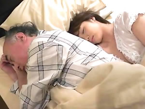 Japanese grandpa enjoys young body